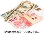 Close Up Of Hong Kong Currency...