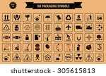 set of packaging symbols  this... | Shutterstock .eps vector #305615813