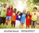 children friendship...   Shutterstock . vector #305645027