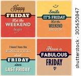 retro typographic poster design ... | Shutterstock .eps vector #305650847
