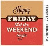 retro typographic poster design ...   Shutterstock .eps vector #305650853