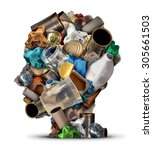 recycling ideas and... | Shutterstock . vector #305661503