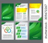 green brochure template design... | Shutterstock .eps vector #305672267