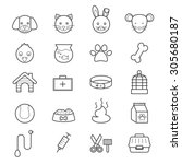 pet icons line | Shutterstock .eps vector #305680187