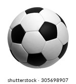 soccer ball isolated on white | Shutterstock . vector #305698907