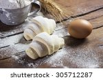 Raw Croissants Prepared For...