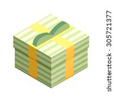 flat isometric gift box icon...