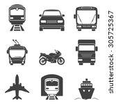 simple monochromatic transport... | Shutterstock .eps vector #305725367
