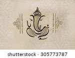 a traditional indian wedding... | Shutterstock . vector #305773787