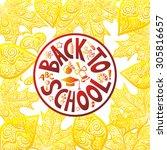 back to school vector... | Shutterstock .eps vector #305816657