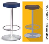 bar stool | Shutterstock .eps vector #305824733