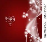 christmas background | Shutterstock . vector #305844437