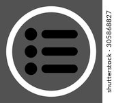 items vector icon. this rounded ...