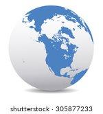 north america  canada  siberia  ... | Shutterstock .eps vector #305877233