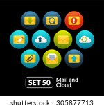 flat icons set 50   mail and...