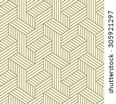 elegant pattern. golden pattern.... | Shutterstock .eps vector #305921297