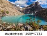 Постер, плакат: Beautiful mountain scenery with