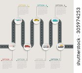 road infographic stepwise... | Shutterstock .eps vector #305974253