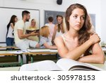 alone sad student being bullied ... | Shutterstock . vector #305978153