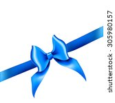 bow ribbon gift vector | Shutterstock .eps vector #305980157