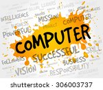 computer word cloud  business... | Shutterstock .eps vector #306003737