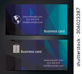 stylish business cards with... | Shutterstock .eps vector #306023387