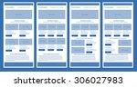 responsive newsletter template... | Shutterstock .eps vector #306027983