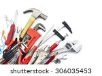 various type of tools on white... | Shutterstock . vector #306035453