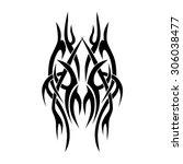 tribal tattoo vector design... | Shutterstock .eps vector #306038477