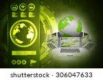 computer network | Shutterstock . vector #306047633