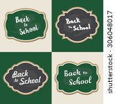 back to school set of green and ... | Shutterstock .eps vector #306048017