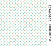 seamless pattern. many dots ... | Shutterstock .eps vector #306049673