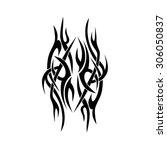 pattern. design. tattoo.... | Shutterstock .eps vector #306050837