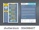 resume and cover letter or cv...   Shutterstock .eps vector #306088607
