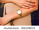 close up image of woman hand ... | Shutterstock . vector #306108023