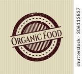 organic food rubber seal | Shutterstock .eps vector #306113837
