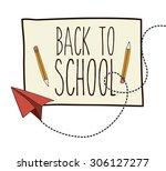 back to school digital design ... | Shutterstock .eps vector #306127277