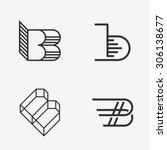 the set of letter b sign  logo  ...