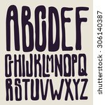 hand drawing type font.... | Shutterstock .eps vector #306140387