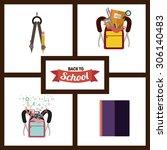 back to school digital design ... | Shutterstock .eps vector #306140483