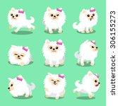 cartoon character white... | Shutterstock .eps vector #306155273