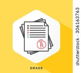 stack of papers icon with dark... | Shutterstock .eps vector #306163763