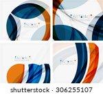 Blue And Orange Color Shapes....