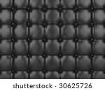 Realistic illustration of shiny black buttoned leather. - stock photo