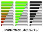 horizontal progress indicator ... | Shutterstock .eps vector #306260117