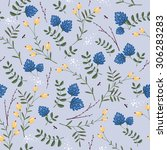 seamless floral pattern vector... | Shutterstock .eps vector #306283283