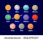 set of planets vector... | Shutterstock .eps vector #306299207