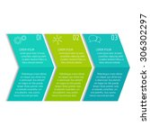 vector option infographic...   Shutterstock .eps vector #306302297
