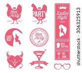Hen Party Design Elements Set....