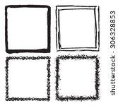grunge frame texture set  ... | Shutterstock .eps vector #306328853